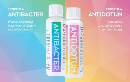 Ecoperla Antibacter i Ecoperla Antidotum - środki do pielęgnacji urządzeń filtracyjnych