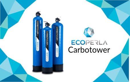 kolumny węglowe Ecoperla Carbotower z węglem aktywnym wytwarzanym z łupin orzechów kokosowych